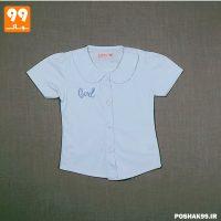 پیراهن دخترانه آبی gvec پیشرو