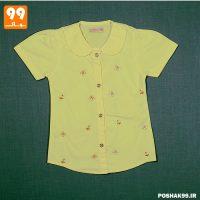 پیراهن دخترانه لیمویی پروانه پیشرو