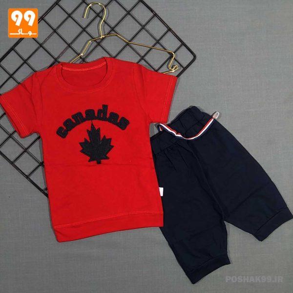 ست پسرانه کانادا قرمز