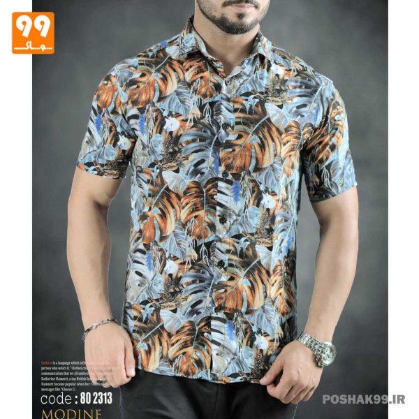 پیراهن هاوایی مردانه طرح 2546
