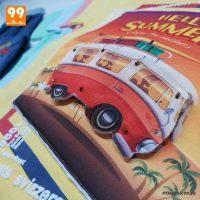 ست تیشرت شلوارک پسرانه طرح اتوبوس زوم کد 5014
