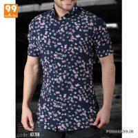 پیراهن هاوایی مردانه طرح غنچه کد 2553