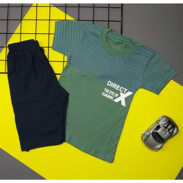 تیشرت شلوارک پسرانه DIRECTX سبز کد 5022