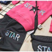 بلوز شلوار دخترونه کیف دار STAR زوم کد 5535