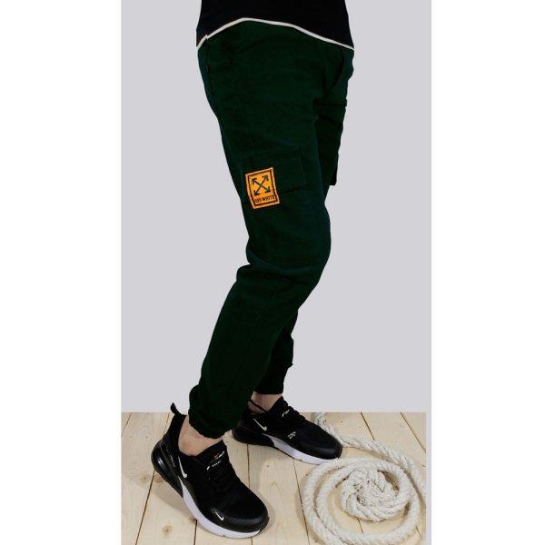 شلوار اسلش شش جیب مردانه OFF-WHITE سبز1 کد 1970
