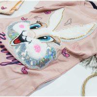 تیشرت شلوارک دخترانه خرگوش پولکی زوم کد 5921
