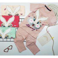تیشرت شلوارک دخترانه خرگوش پولکی کد 5921
